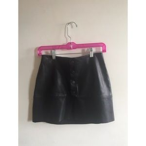 Zara | faux leather mini skirt